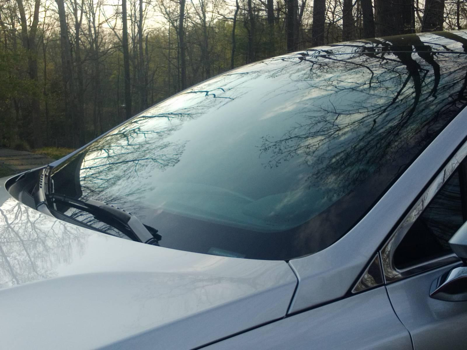 Blue windshield tint