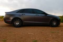 2014 MKZ 3M Wrapped in Satin Dark Grey. 20 inch Lexani wheels